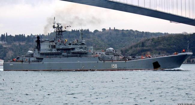 Большой военный корабль Черноморского флота РФ столкнулся в Эгейском море с сухогрузом