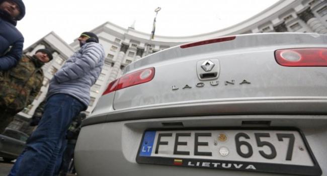 Дипломат: у владельцев автомобилей на «евробляхах» нет денег, чтобы платить, как все