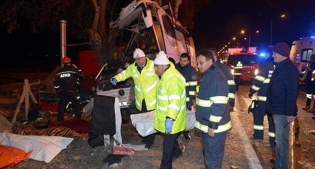 В Турции произошло очередное страшное ДТП с пассажирским автобусом, много жертв