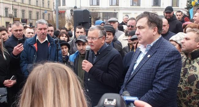 Саакашвілі і Гриценко були першими в Україні, хто підхопив фейк Пєскова