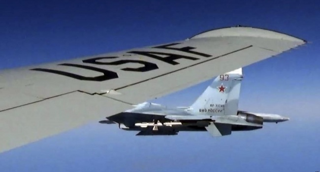 ВМС США опубликовали видеозапись инцидента с российским истребителем Су-27