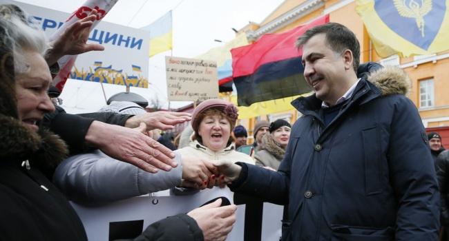 На марше сторонников Саакашвили в Киеве озвучены первые требования к Порошенко