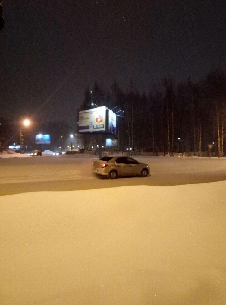 В РФ полицейские начали охрану предвыборных билбордов Путина