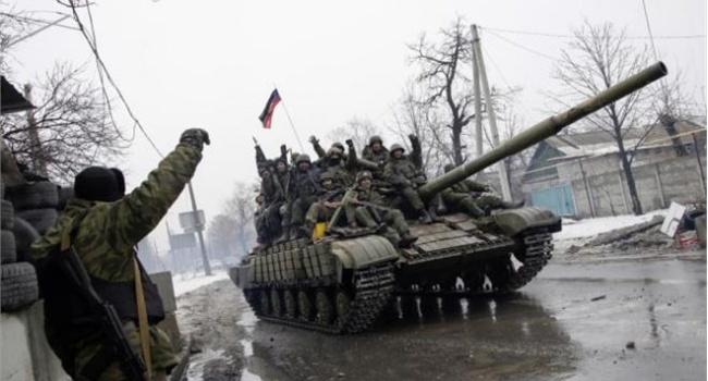 Боевики под Песками обстреливали силы АТО из танка, - пресс-центр