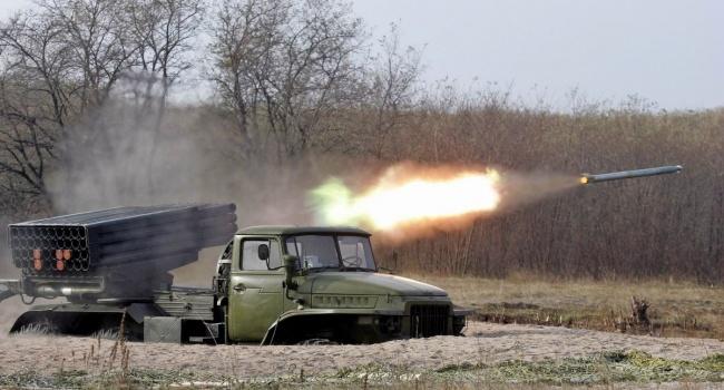 ОБСЕ: в районе Светлодарска стреляют из РСЗО «Град»