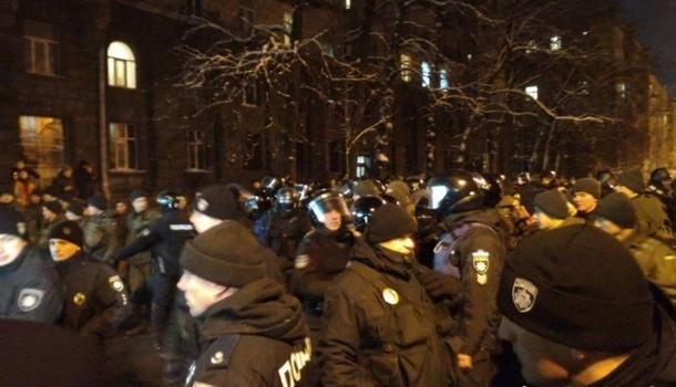 Депортация Саакашвили: на митинге под АП сторонники лидера РНС устроили столкновения
