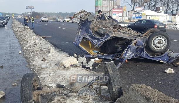 Смертельное ДТП под Киевом: маршрутка с детьми слетела в кювет