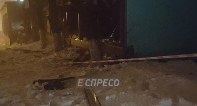 ЧП в Киеве: неизвестные из гранатомета обстреляли ресторан, произошло возгорание