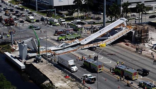 Трагедия в США: в Майами обрушился мост, много погибших