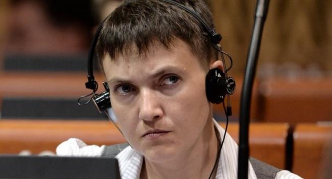 «Савченко пора обращаться за медицинской помощью», - депутат
