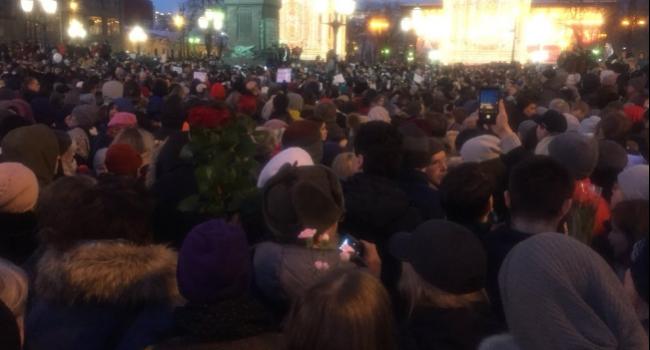 Тысячи россиян в Москве в один голос требуют отставки Путина