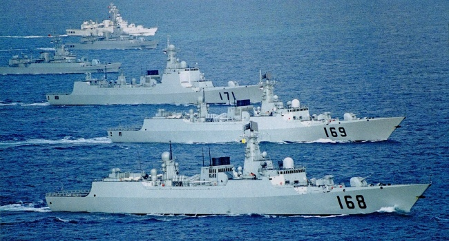 Молния: Военные корабли Китая примкнут к ВМС России в случае ответа на удары по Сирии