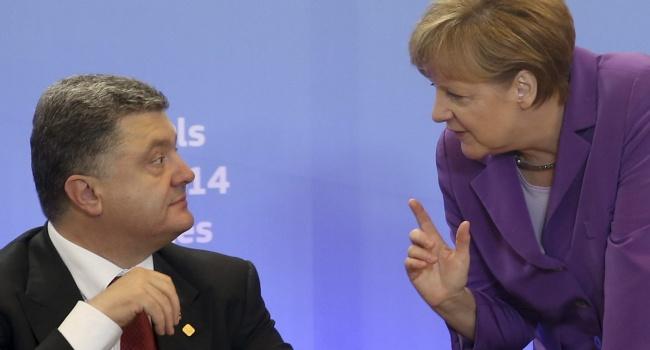 Меркель рассказала Порошенко о результатах переговоров с Путиным