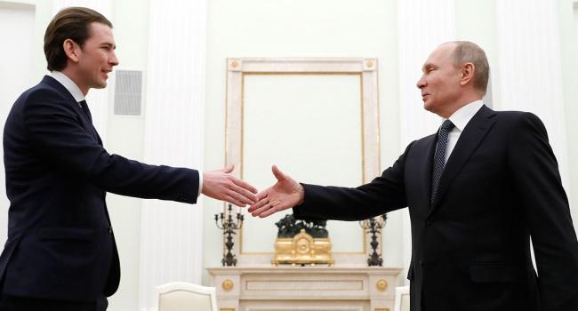 Курц дал Путину понять, что Австрия поддержит антироссийские санкции