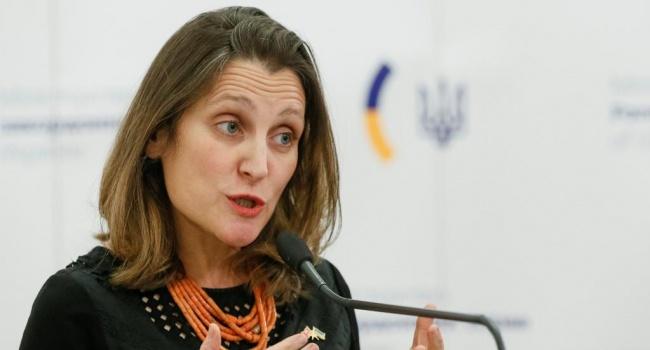 Фриланд: Страны «Большой семерки» обсудят поведение РФ