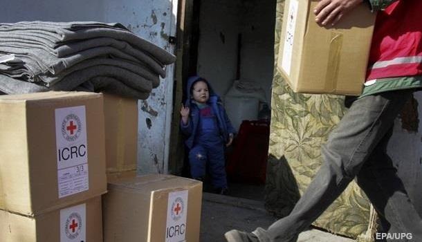 В «ДНР» доставят 152 тонны гумпомощи от Красного Креста