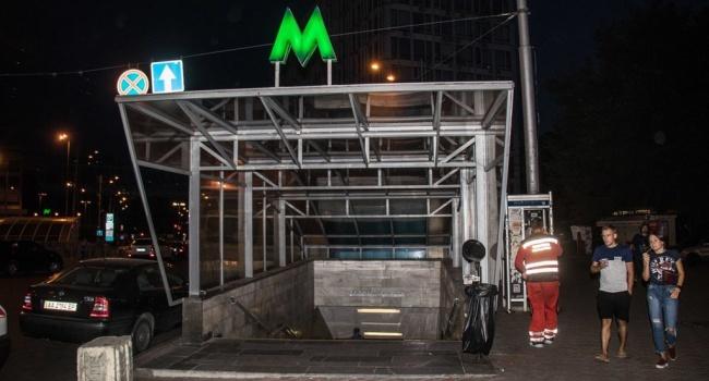 Инцидент в метро Киева: девушка прыгнула под поезд