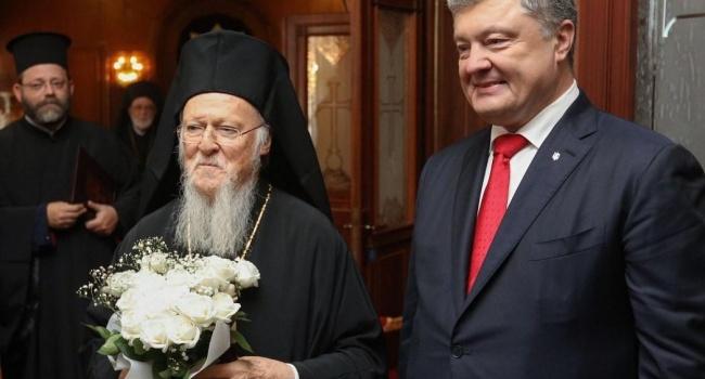 Варфоломей поблагодарил Порошенко и украинский народ за Андреевскую церковь