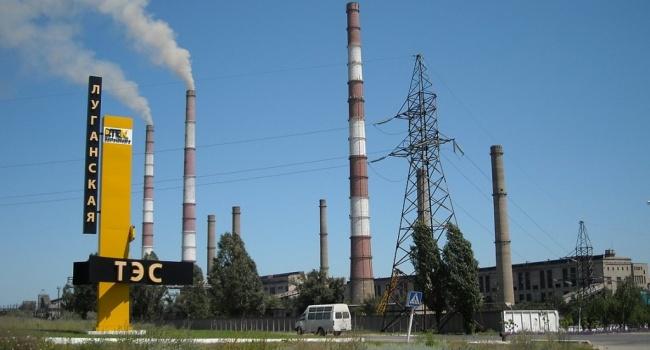 Уголь закончился: Луганская ТЭС перешла на газ