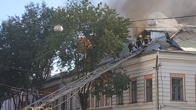 В Днепре загорелся университет