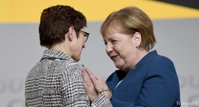 Новым главой ХДС стала ближайшая соратница Меркель, которая призвала блокировать российские корабли в портах США и ЕС