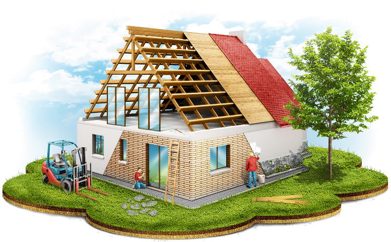 Услуги по ремонту и строительству домов