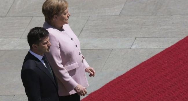 «Я уверен, что никто Украине не будет выкручивать руки»: Зеленский пошел против Меркель из-за России