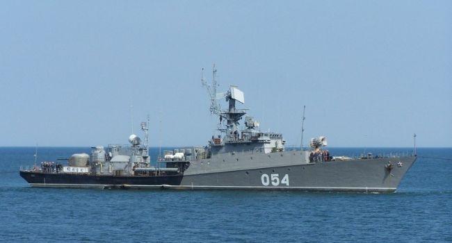 «Усилили присутствие»: российский военный корабль зашел в Азовское море