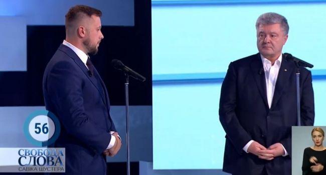 Аналитик: в студии Шустера Билецкий еще раз подтвердил, что для него и для его кураторов главным врагом остается не Путин, а Порошенко