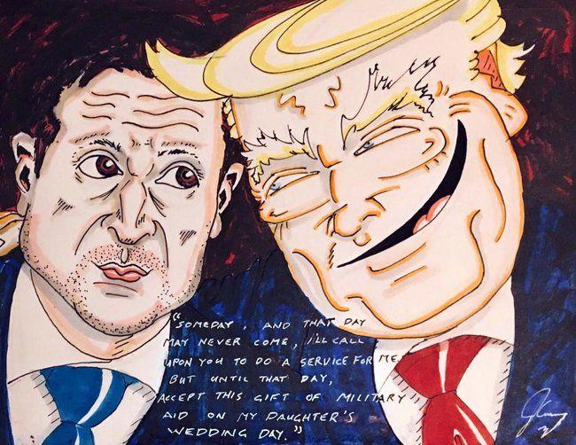 «Брюс всемогущий!»: Джим Керри нарисовал рисунок на скандал Зеленского – Трапма