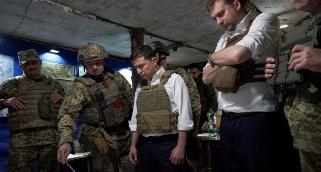 Президент Владимир Зеленский посетил бойцов ООС на передовой