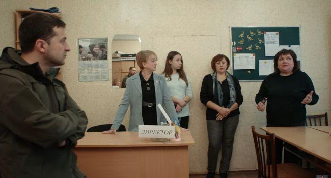 Блогер: 2 дня в Золотом снимали кино, в котором актеры просят Зеленского отвести войска, потому что актеры знают, как закончить войну