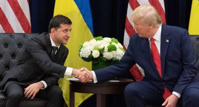 Блогер: Трамп не мог шантажировать Зеленского задержкой военной помощи, она президенту Украины просто не нужна
