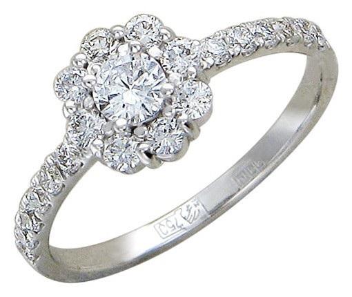 Кольца из белого золота с бриллиантами по выгодной цене
