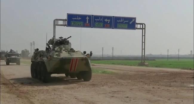 В Сирии в ходе патрулирования подорвался БТР с российским экипажем