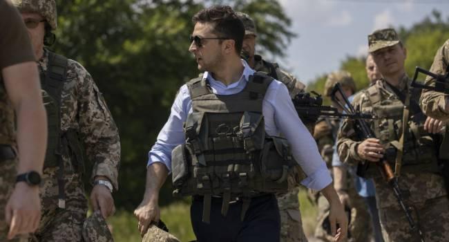 Зеленский о ситуации на Донбассе: Наши бойцы отвечают всегда и мощно
