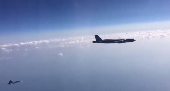 «Небесное столкновение немного севернее Одессы»: Опубликованы резонансные кадры перехвата истребителями РФ авиации США над Черным морем