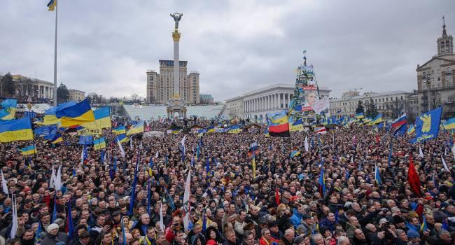 Треть украинцев считает Майдан незаконным государственным переворотом - опрос