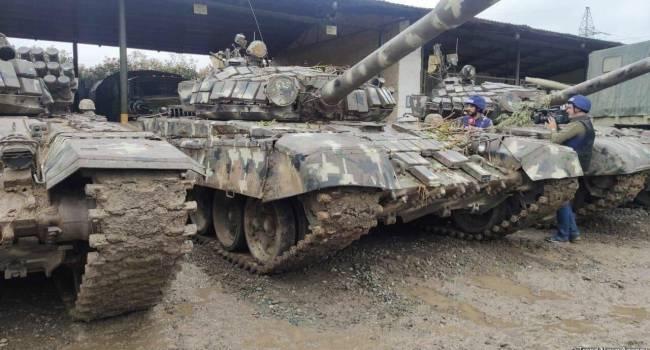СМИ Азербайджана показали захваченную войсками Баку армянскую бронетехнику, на которой азербайджанские войска пойдут в атаку