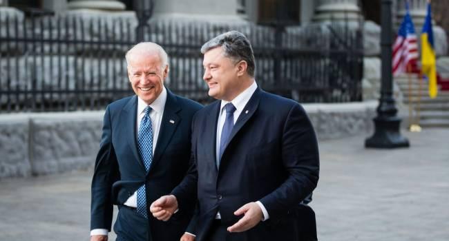 Политолог: поздравление Порошенко Байдену вызовет в Зе-команды глубокую обеспокоенность и ревность