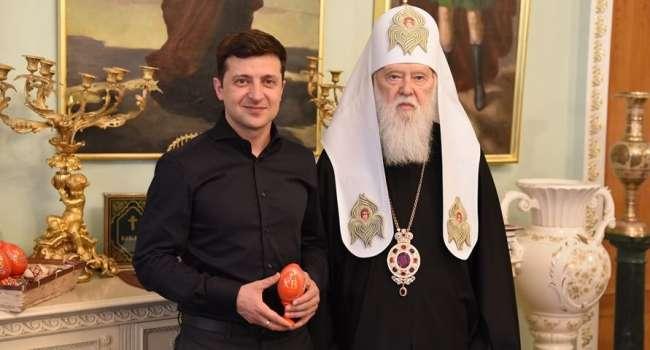 Филарет просит Зеленского поставить Варфоломею вопрос о предоставлении нового Томоса УПЦ