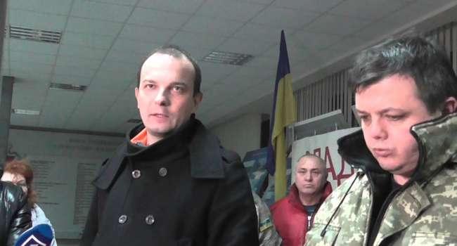 Ветеран АТО: когда-то Соболев с вытаращенными глазами кричал силовикам «Вы гранату хотите?», а теперь пытается отмежеваться от своих подельников