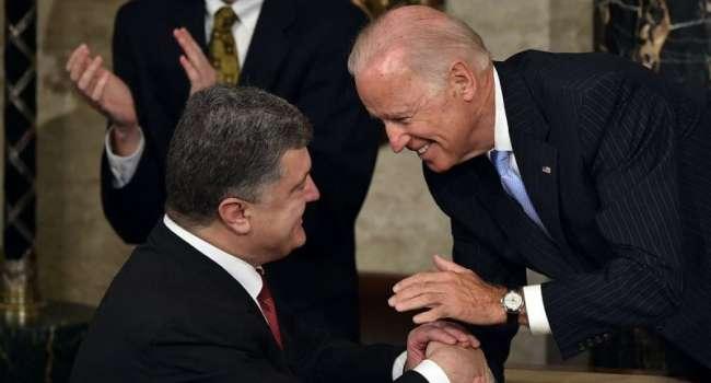 Порошенко попросил Байдена встретиться с Зеленским перед вострей с Путиным